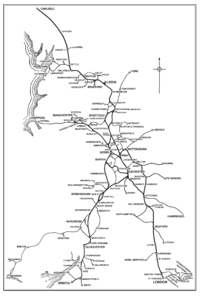 Midland Railway System Map